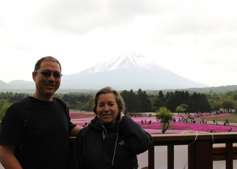 A visit to the base of Mt. Fuji just in time to see the fields of Pink Moss