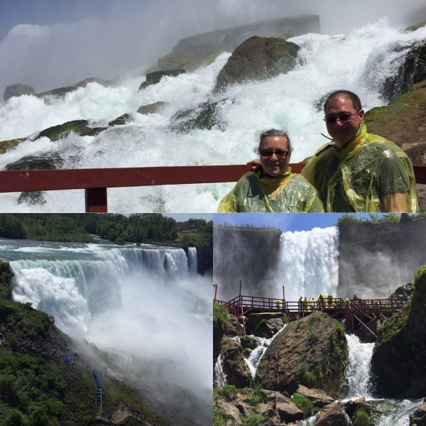 Niagara Falls!  We visited the Cave of the Winds and got soaked!