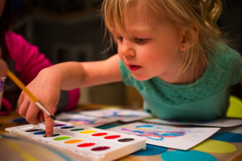 Piper loves to watercolor and do crafts.