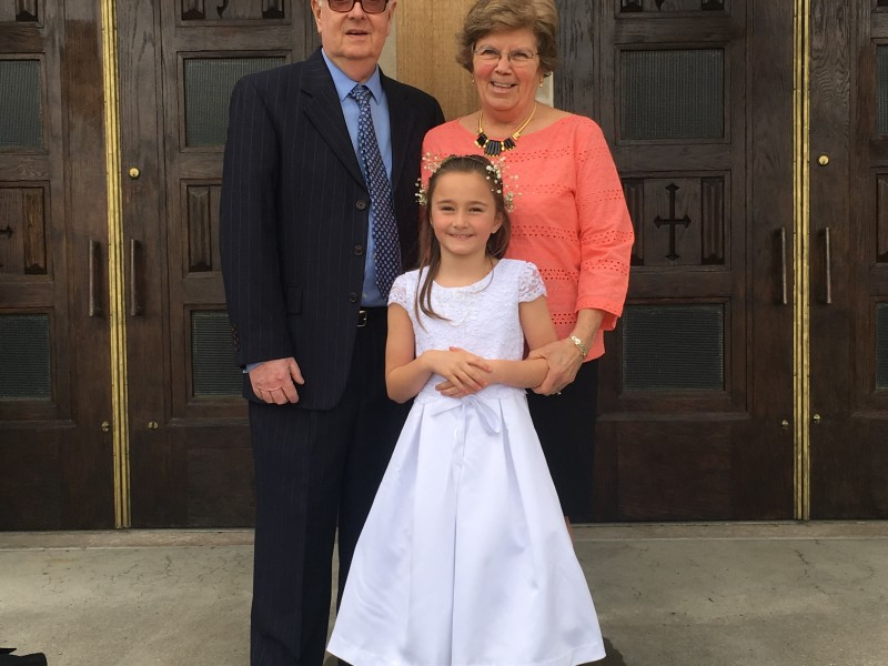 Moe and Papa at First Communion