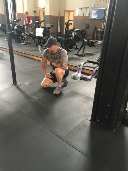 Brian competing in a crossfit challenge on Memorial Day