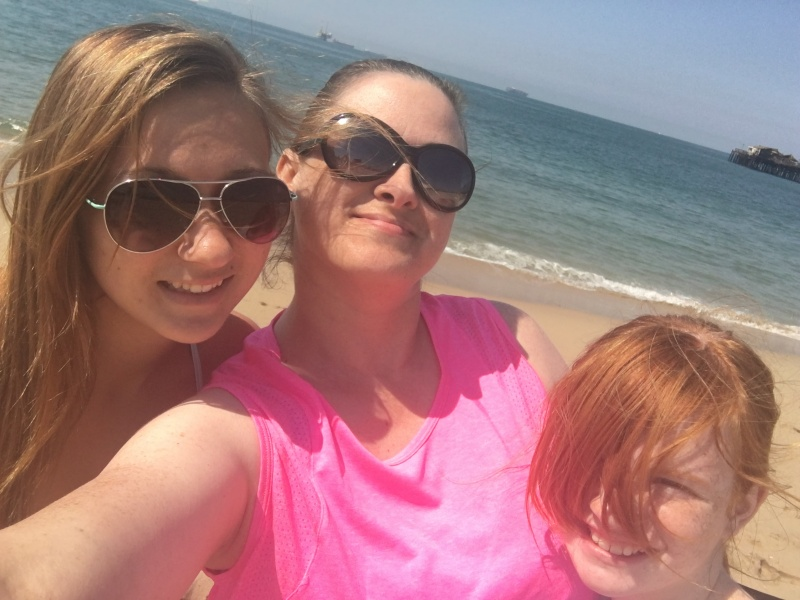 My nieces and I at the beach