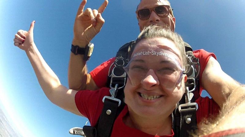 Skydiving in 2013 - it was terrifying!!