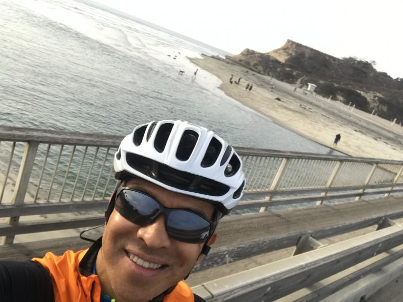bike riding along PCH 1 on my day off