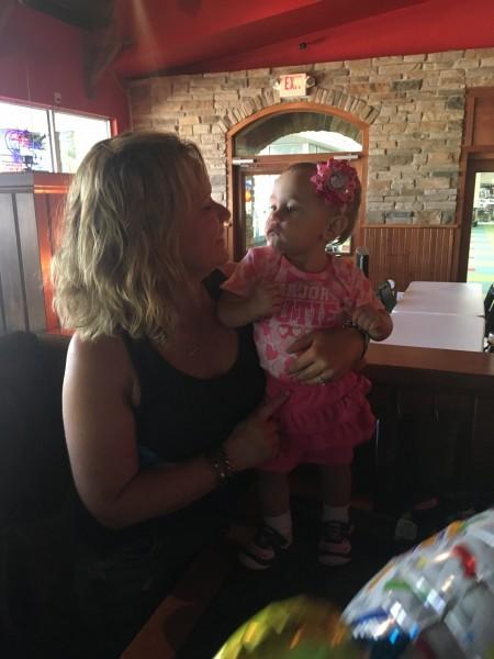 Kim with her niec
