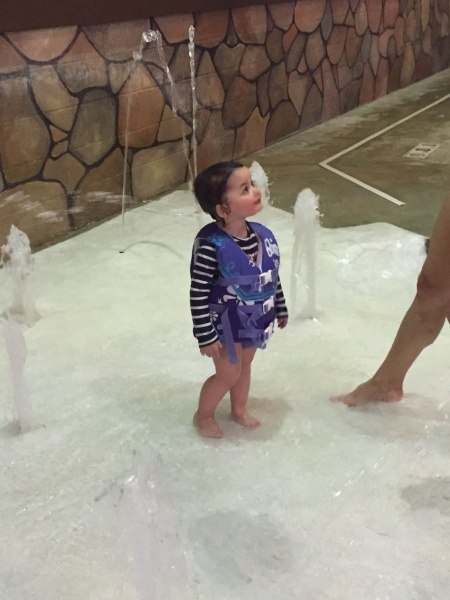 Splashing around with Baby Vivi