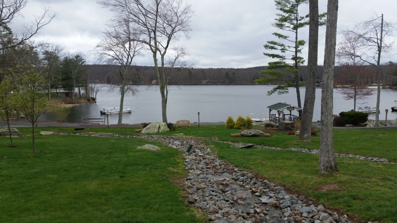 The view of Lake Teedyuskung on the Woodloch Resort :-)