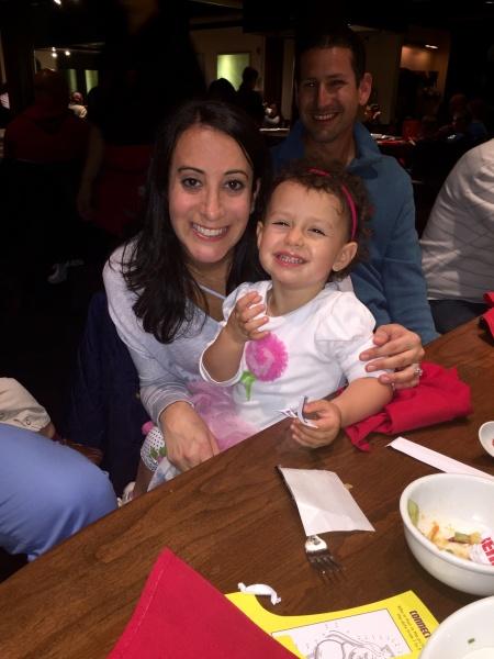 At hibachi dinner