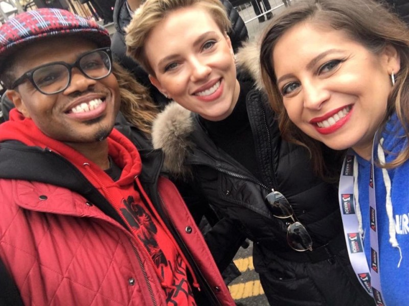 We found Scarlett Johansson at the Women's March!