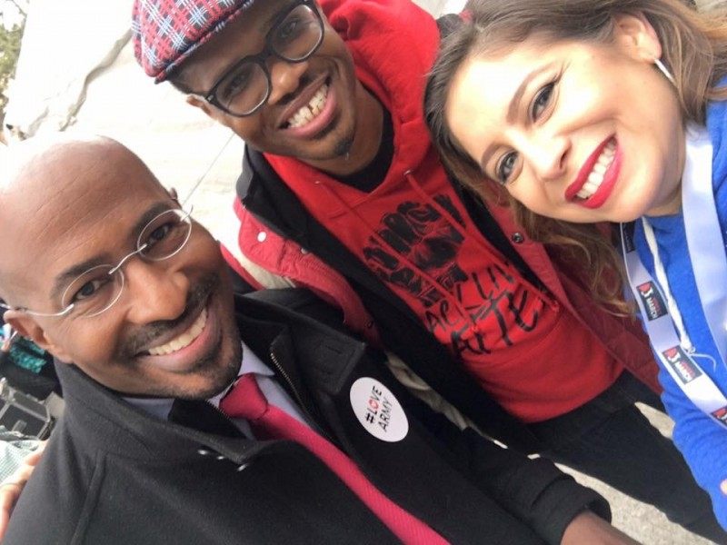 At the Women's March with Van Jones and my friend Jessica
