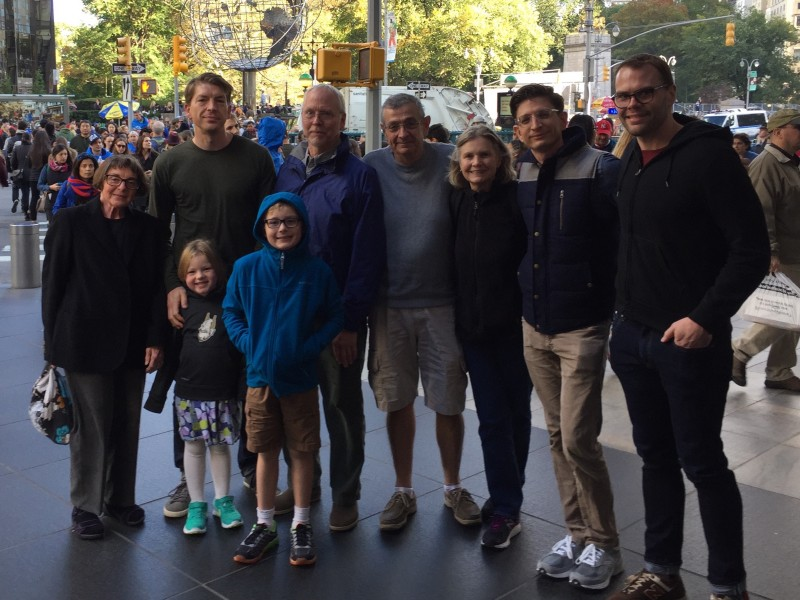 Our families hanging in NYC this past fall
