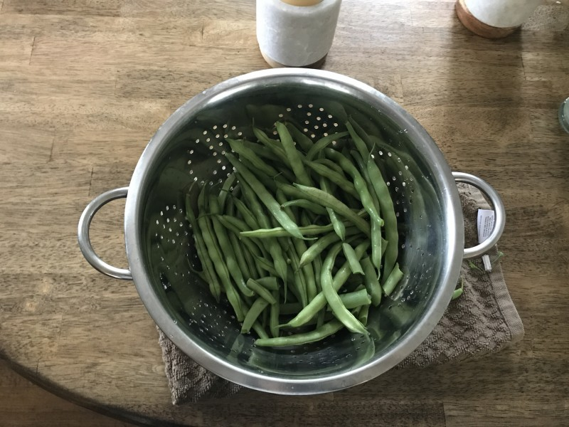 Loving having fresh veggies from Jason's parents' garden