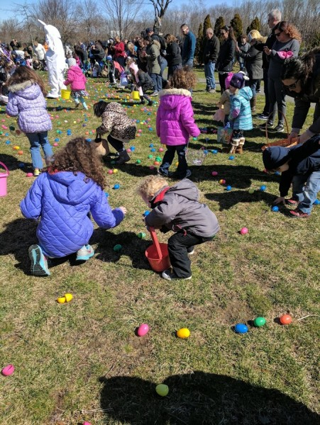 Our local park hosts many special children's events like the Easter Egg Hunt