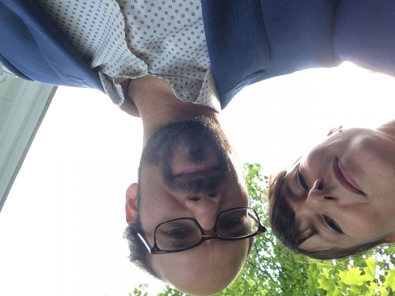 silly selfie at a friend's wedding