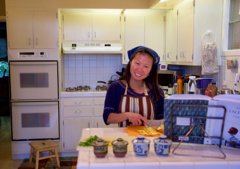 Isabella in one of her fav activites—cooking!