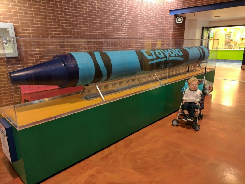 World's largest crayon at the Crayola Factory