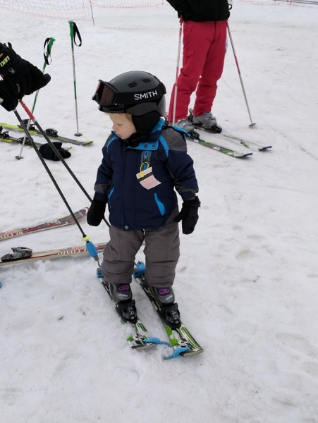 Never too young to learn how to ski