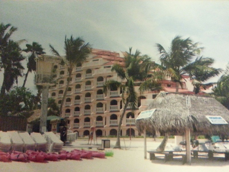 One of the hotels on the beach, we thought it was unique.