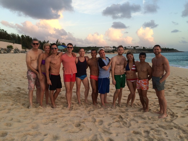 Gang on beach