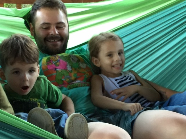 Chris with his niece Harley and nephew Beau