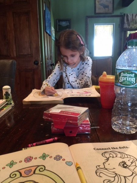 Our niece coloring