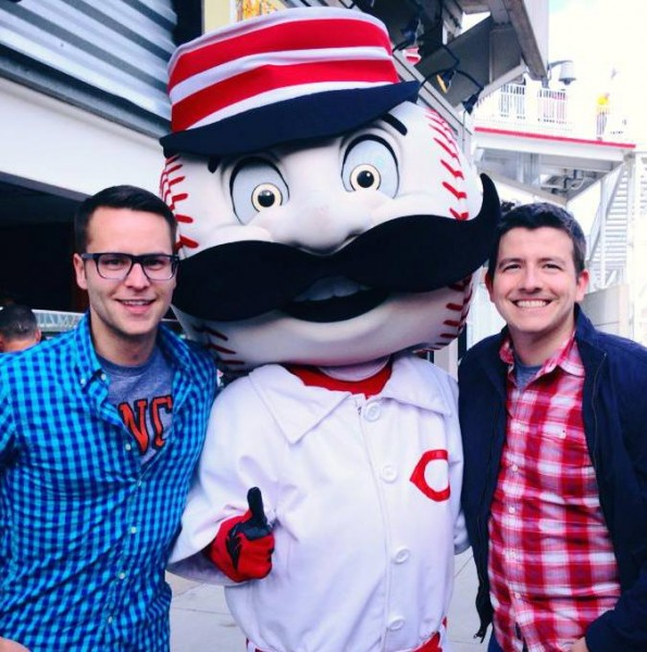 Reds baseball game - Cincinnati is CJ's hometown