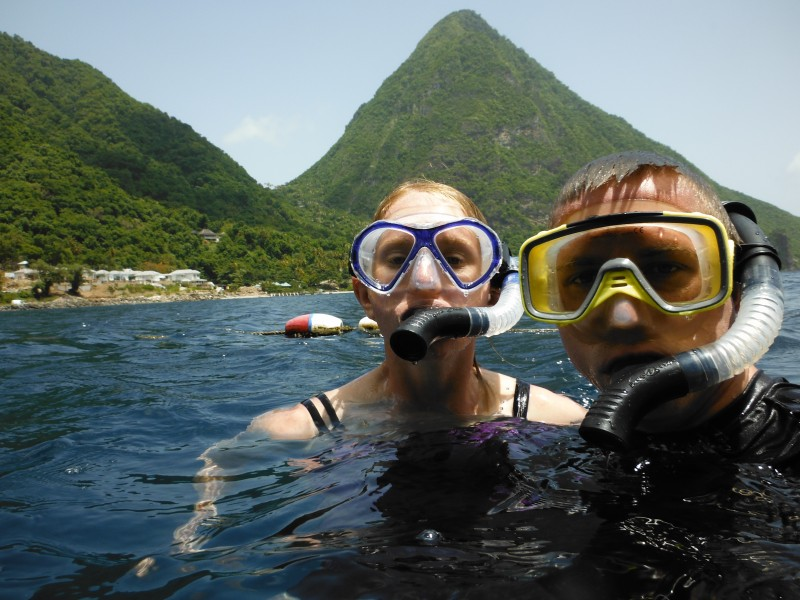 Snorkeling St Lucia