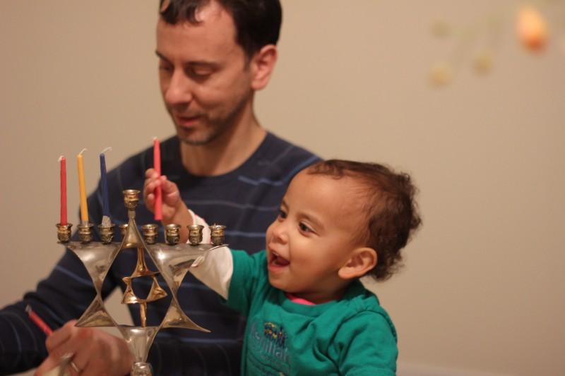 Daddy loves his helper