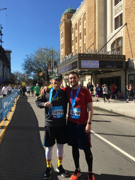 Ryan and his brother after they ran the 10k!
