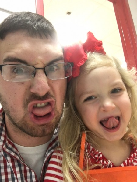 Ryan and our niece at her school's father/daughter night because her daddy was out of town for work!