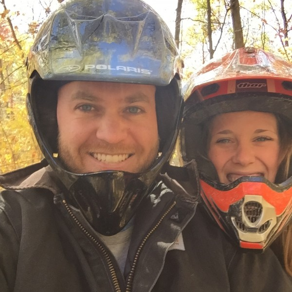We like to stay active. Four wheeling is super fun!