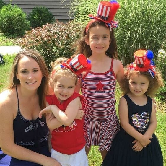 My sister-in-law Christy and nieces Olivia, Sienna and Savannah from Fourth of July.  We have a big family reunion every year on July 4th at the family farm where my Dad grew up.