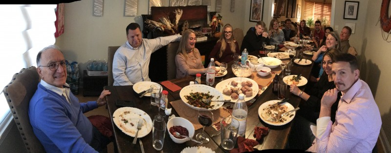 Thanksgiving 2017 - some of my family after dinner and full bellied!