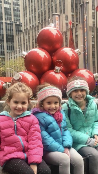 My nieces enjoying a fun day in the city, Christmas shopping and seeing Santa!