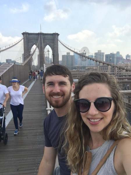 Us on the Brooklyn Bridge!