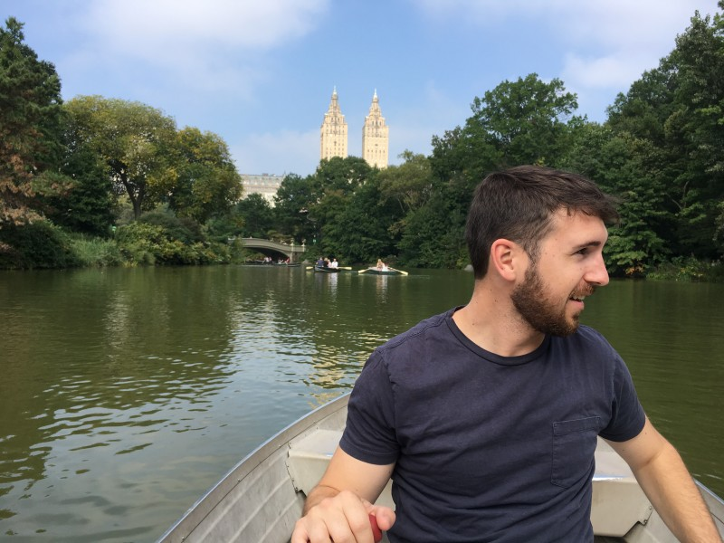 Ryan rowing us around the Central Park lake