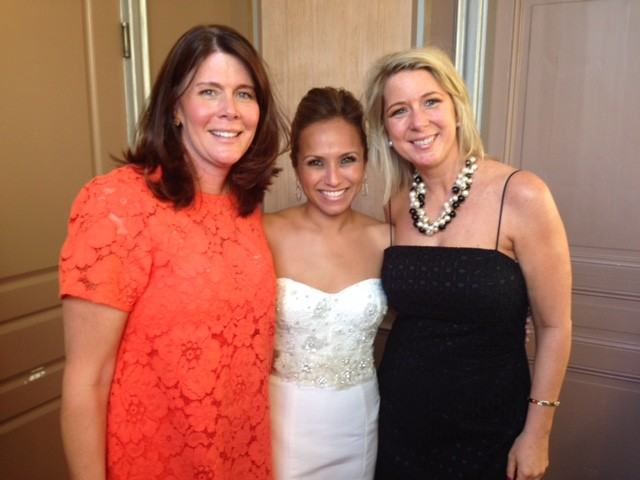 My sister Megan, sister-in-law Denise and me at Denise's wedding.  We are so happy for her!! She has since blessed our family with two babies, built in playmates for this child!