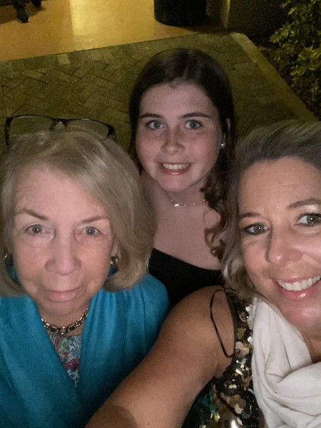 3 generations hitting to town for dinner, praying and waiting for your arrival.