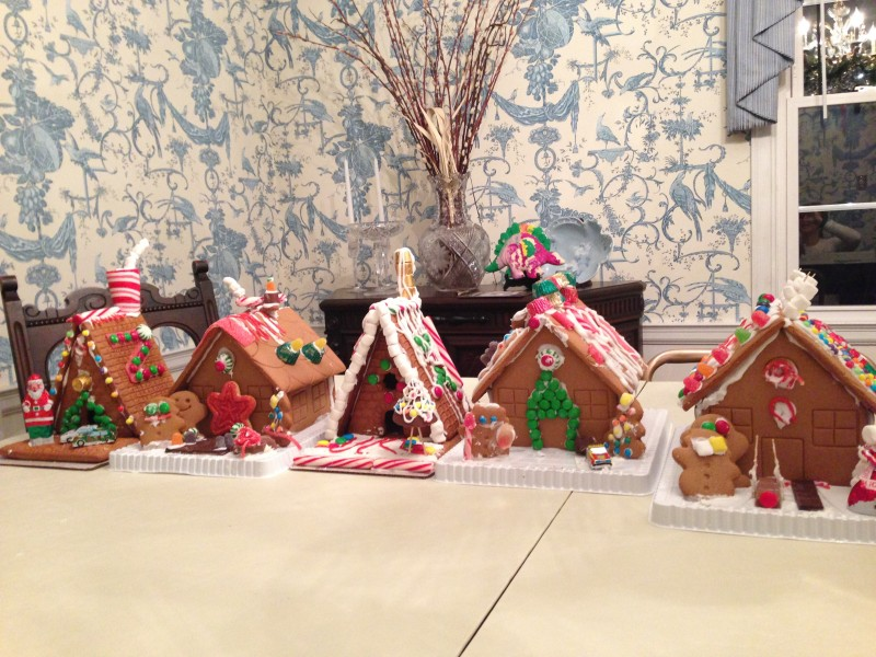 The Gingerbread House Competition...a tradition that has become a true favorite.  We have two little people who are eagerly awaiting a new cousin for the next generation of the competitors!