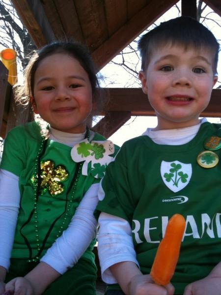 Cousins celebrating St. Patrick's Day