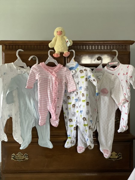 A few onesies that are waiting to be filled by a little one...boy or girl - we are ready!