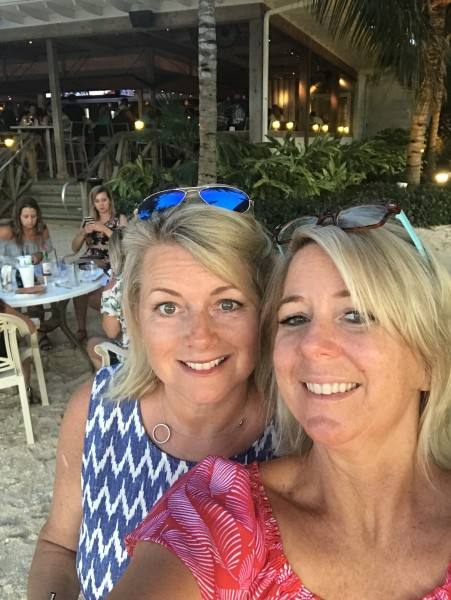 """Besties!  This is Jennifer, we met as kids on the beach. She is a mom of three and will be a wonderful aunt to this child...her tagline is """"Rem"""