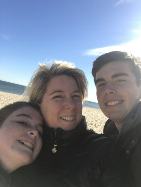 A chilly walk on the beach...our favorite place!  We spend our summers there and go during the winter too. The beach heals the soul. I can't wait to start new memories with a child , in a place where I have the best memories!