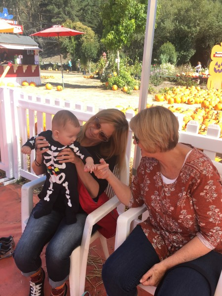 Parker with our friend Darcy and her mom.