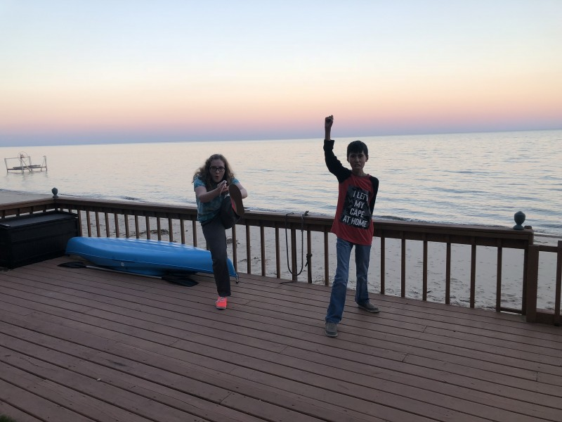 Action shot on the dock