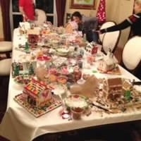 We make gingerbread houses every year during Christmas time. The girls make the houses and the boys judge the winners.
