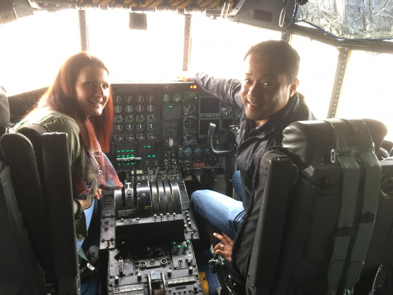 Traveling to spend time with family and Phillip's friends he grew up with in Korea. AND got to tour an Air Force plane!