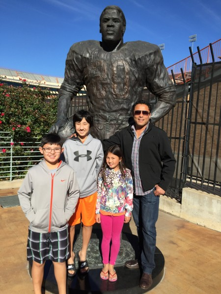 Visiting Phillip's best friend and their littles in Texas.