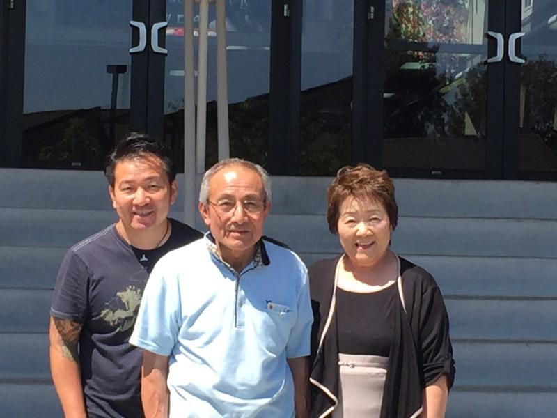 Hiroki and parents