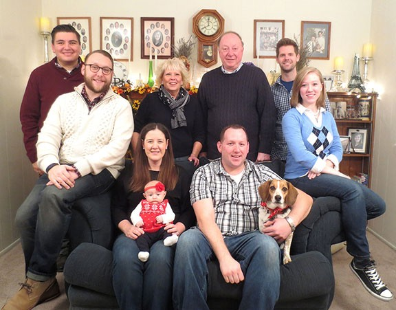 We love spending holidays with family. Here we are at Thanksgiving with Andrew's family.